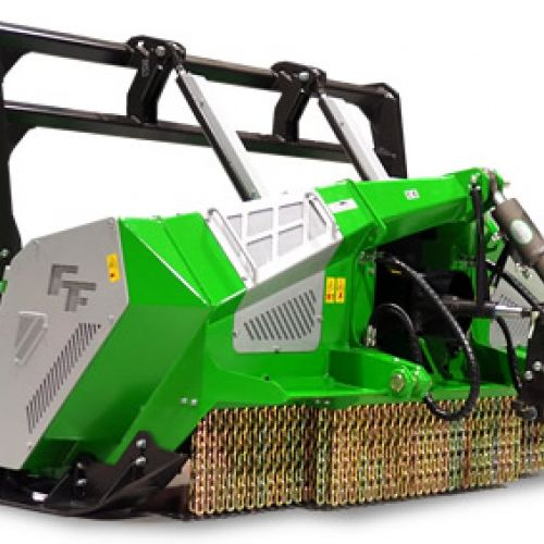 Forestry mulchers with hydraulic clutch transmission